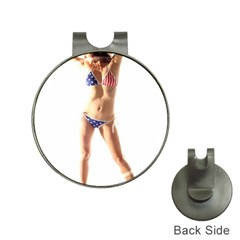 Usa Girl Hat Clip With Golf Ball Marker