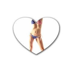 Usa Girl Drink Coasters (heart) by hlehnerer