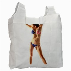 Usa Girl Recycle Bag (one Side) by hlehnerer