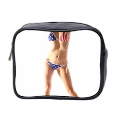 Usa Girl Mini Travel Toiletry Bag (two Sides) by hlehnerer