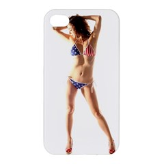Usa Girl Apple Iphone 4/4s Premium Hardshell Case by hlehnerer