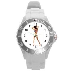 Usa Girl Plastic Sport Watch (large) by hlehnerer