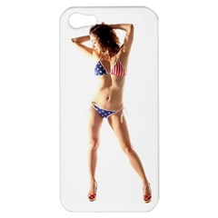 Usa Girl Apple Iphone 5 Hardshell Case by hlehnerer
