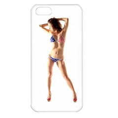 Usa Girl Apple Iphone 5 Seamless Case (white) by hlehnerer