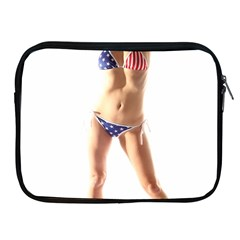 Usa Girl Apple Ipad 2/3/4 Zipper Case by hlehnerer