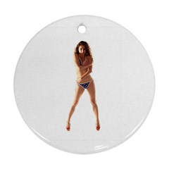 Usa Girl Round Ornament by hlehnerer
