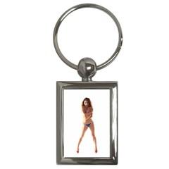 Usa Girl Key Chain (Rectangle) by hlehnerer