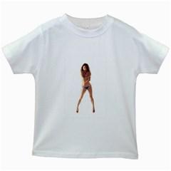 Usa Girl Kids' T Shirt (white) by hlehnerer