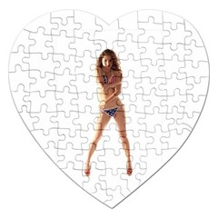 Usa Girl Jigsaw Puzzle (heart) by hlehnerer