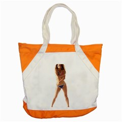 Usa Girl Accent Tote Bag by hlehnerer