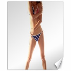 Usa Girl Canvas 11  X 14  9 (unframed) by hlehnerer