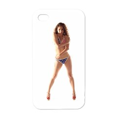 Usa Girl Apple Iphone 4 Case (white) by hlehnerer