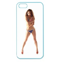 Usa Girl Apple Seamless Iphone 5 Case (color)