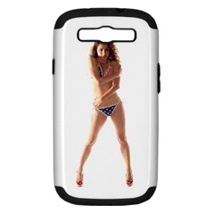 Usa Girl Samsung Galaxy S Iii Hardshell Case (pc+silicone) by hlehnerer