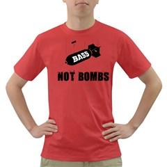Drop Bass Not Bombs Dark T Shirt