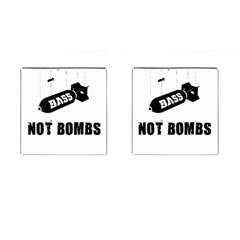 Drop Bass Not Bombs Cufflinks (square) by Lab80