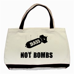 Bass2 Twin Sided Black Tote Bag