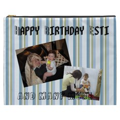 Esti By Eli Smith   Cosmetic Bag (xxxl)   6mmkrocd53o4   Www Artscow Com Front