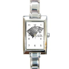 Winter Is Coming ( Stark ) 2 Rectangular Italian Charm Watch by Lab80