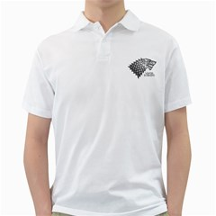Winter is Coming ( Stark ) 2 Mens  Polo Shirt (White) by Lab80