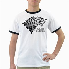 Winter Is Coming ( Stark ) 2 Mens' Ringer T Shirt by Lab80