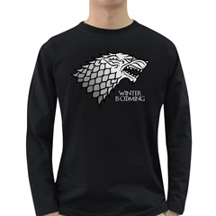 Winter is Coming ( Stark ) 2 Mens' Long Sleeve T-shirt (Dark Colored) by Lab80