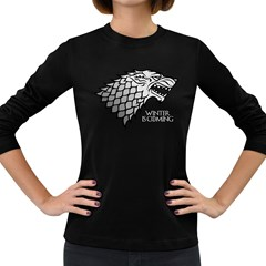 Winter Is Coming ( Stark ) 2 Womens' Long Sleeve T Shirt (dark Colored) by Lab80