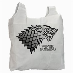 Winter Is Coming ( Stark ) 2 Recycle Bag (two Sides) by Lab80