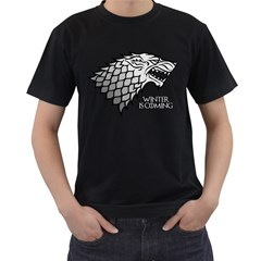 Winter is Coming ( Stark ) 2 Mens' T-shirt (Black) by Lab80
