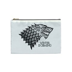 Winter Is Coming ( Stark ) 2 Cosmetic Bag (medium) by Lab80