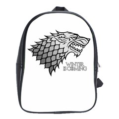 Winter is Coming ( Stark ) 2 School Bag (Large) by Lab80