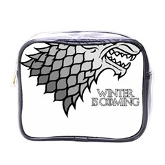 Winter Is Coming ( Stark ) 2 Mini Travel Toiletry Bag (one Side) by Lab80