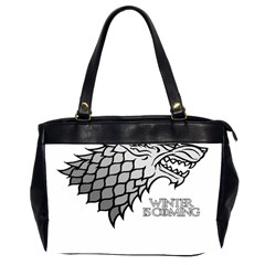 Winter is Coming ( Stark ) 2 Oversize Office Handbag (Two Sides) by Lab80