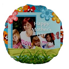 Mom By Jacob   Large 18  Premium Round Cushion    7m1x3j4hd6qu   Www Artscow Com Front