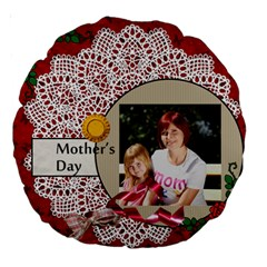 Mom By Jacob   Large 18  Premium Round Cushion    Rvb1gtoxnxo4   Www Artscow Com Front