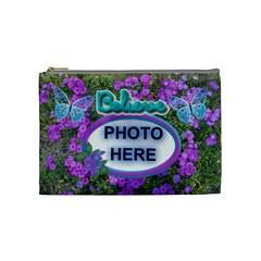 believe  Medium Cosmetic Bag By Joy Johns   Cosmetic Bag (medium)   J7amirjw9kzg   Www Artscow Com Front