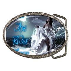 As The River Rises  Belt Buckle (oval)