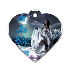 As The River Rises  Dog Tag Heart (one Sided)  by AuthorPScott