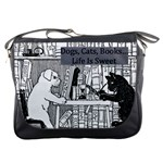 Dogs, Cats, Books - Messenger Bag