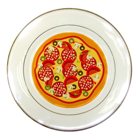 Pizza By Divad Brown   Porcelain Plate   Zpxezuv4dxpr   Www Artscow Com Front