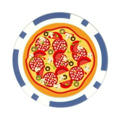 Pizza By Divad Brown   Poker Chip Card Guard   Qcb3o797j0rn   Www Artscow Com Front