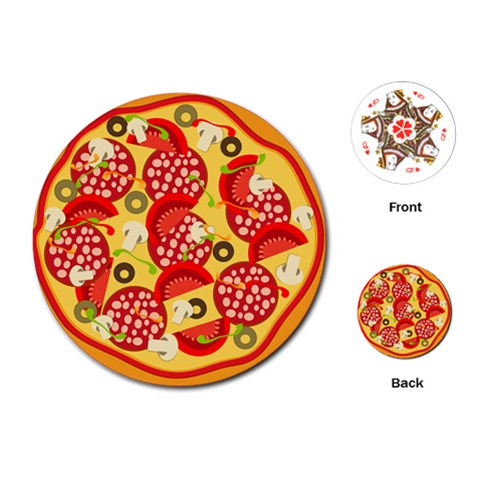 Pizza By Divad Brown   Playing Cards (round)   Bdv66bzf10zf   Www Artscow Com Front