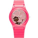 Pink Monkey watch small - Round Plastic Sport Watch (S)