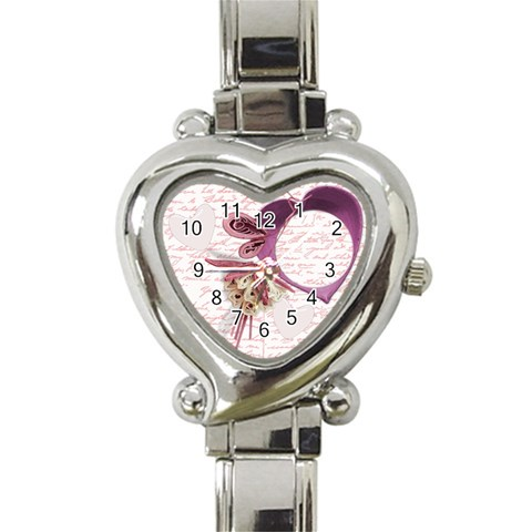 Pink Heart Watch By Zornitza   Heart Italian Charm Watch   44oyo9bj5bqq   Www Artscow Com Front
