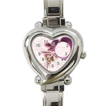 Pink heart watch - Heart Italian Charm Watch