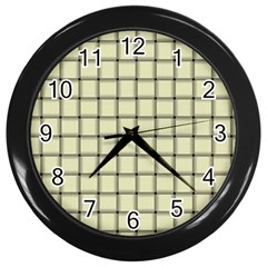 Cream Weave Wall Clock (black) by BestCustomGiftsForYou