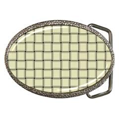 Cream Weave Belt Buckle (oval)