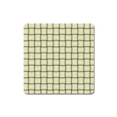 Cream Weave Magnet (square) by BestCustomGiftsForYou