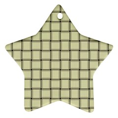 Cream Weave Star Ornament (two Sides) by BestCustomGiftsForYou