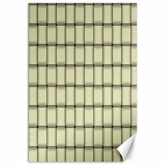 Cream Weave Canvas 12  X 18  (unframed) by BestCustomGiftsForYou